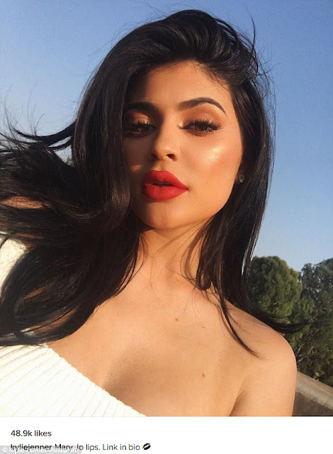 Kylie Jenner insists she hasn't had breast implants