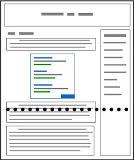 Contoh yang bagus: tata letak situs blog yang mengutamakan konten