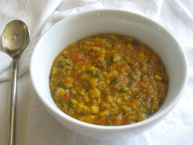 Urad and Toor Dal with Fresh Fenugreek