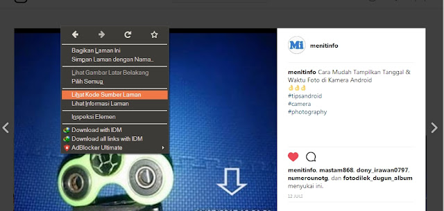 Download Foto dan Video di Instagram lewat PC