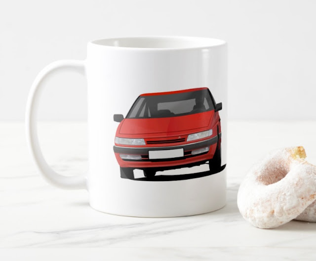 Citroen XM coffee mug with two images