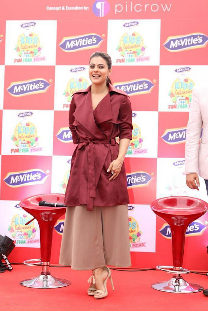 Kajol Stills At McVities Kids Culinaire Event