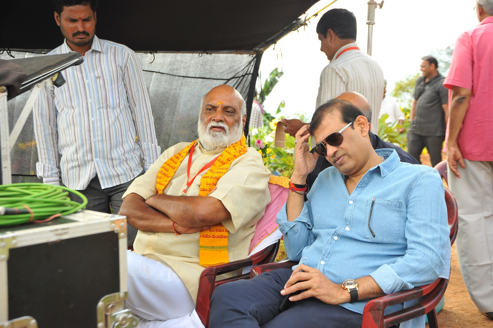 om namo venkatesaya working stills-HQ-Photo-11