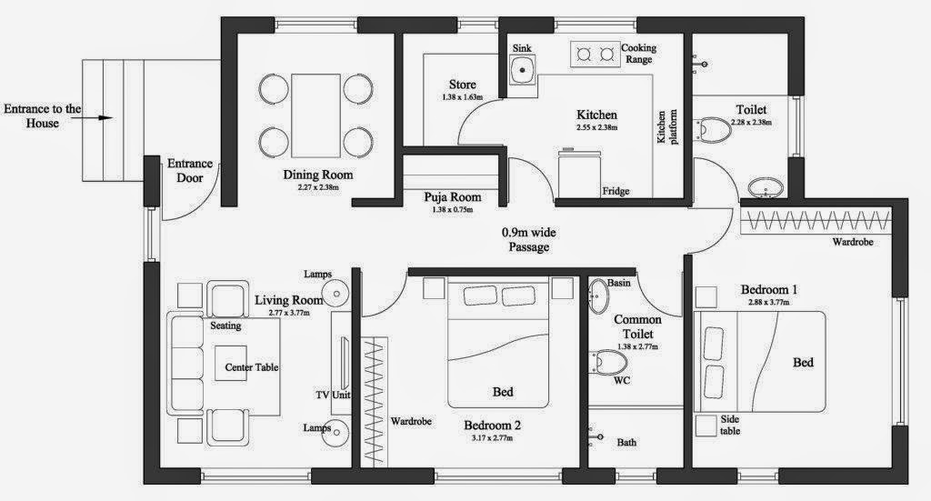 30x25 First Floor Plan New House Plans Drawn By Studer