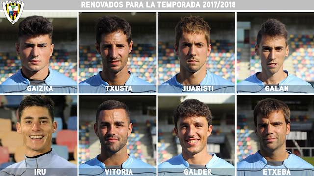 El Barakaldo CF renueva a Gaiz, Txusta, Juaristi, Galán, Iru, Vitoria, Galder y Etxeba