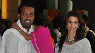 Leander Paes And Rhea Pillai With Their Daughter At An Event