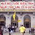 Thông Báo Khẩn: Huỷ bỏ cuộc biểu tình ngày thứ Sáu 31/8/2018