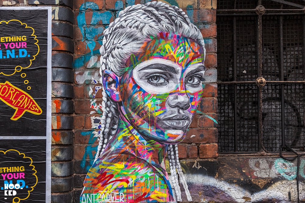 The work of Street Artist Ant Carver in Shoreditch, London