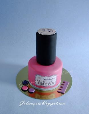 tarta bote esmalte de uñas