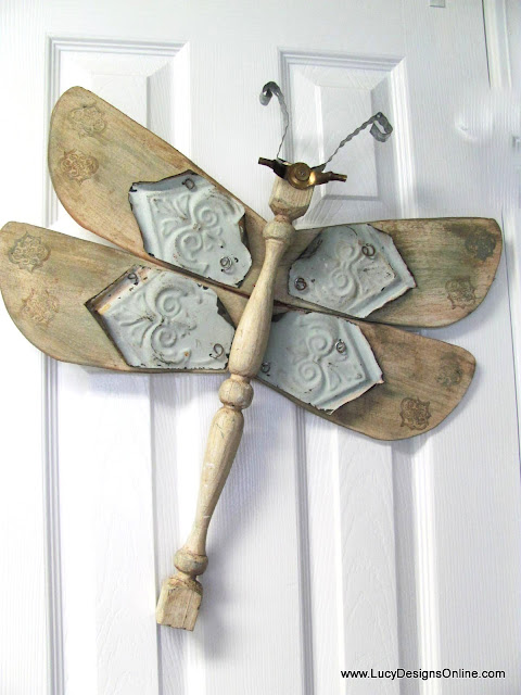 lucy designs fan blade dragonflies