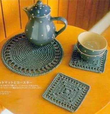 un toque de mercy accesorios para la cocina vaseras y agarra ollas de crochet. Black Bedroom Furniture Sets. Home Design Ideas