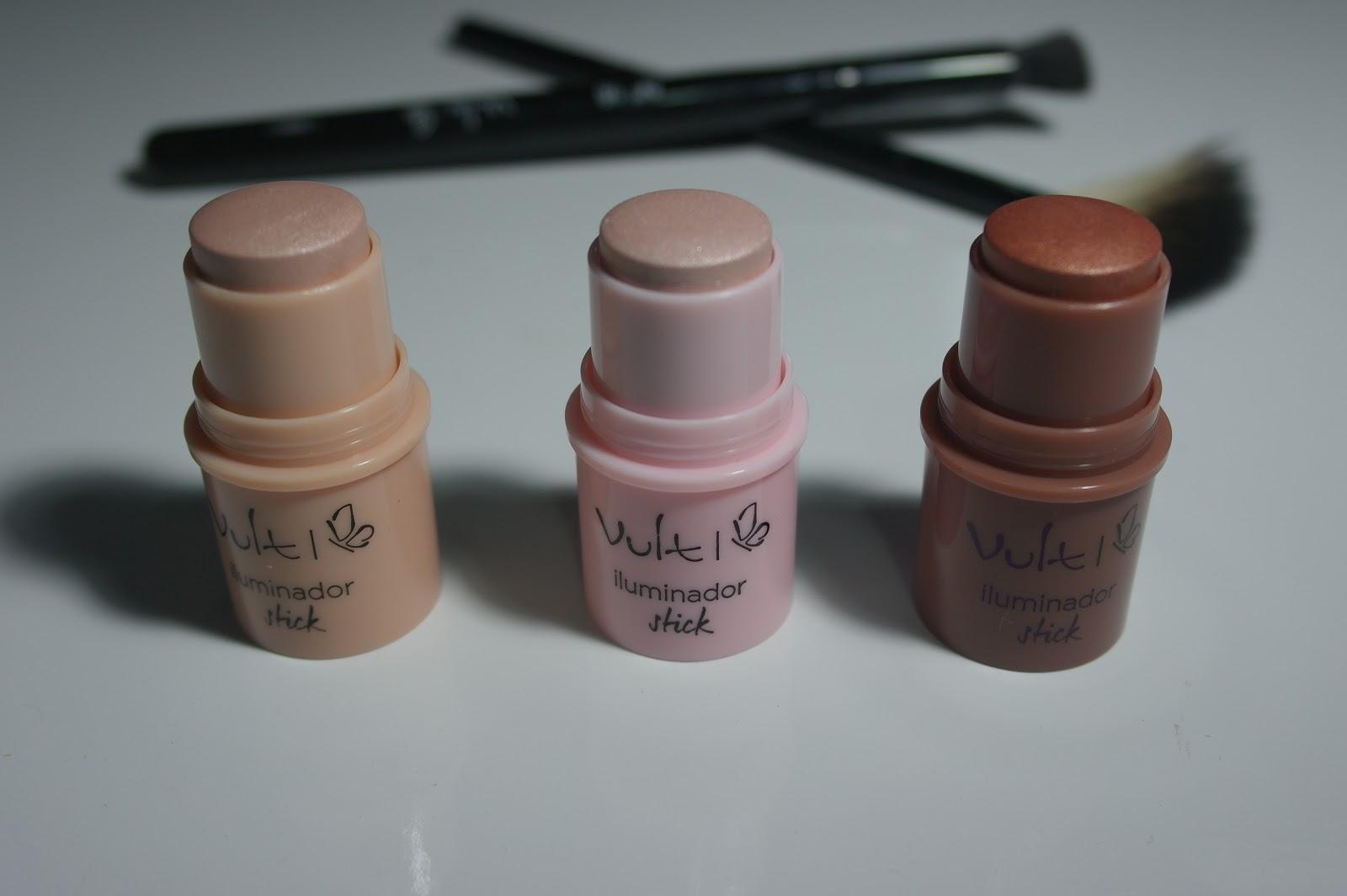 Sticks da Vult #iluminador #contorno e blush