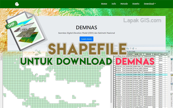 Shapefile untuk Download Data DEMNAS (Info Spasial Lengkap)