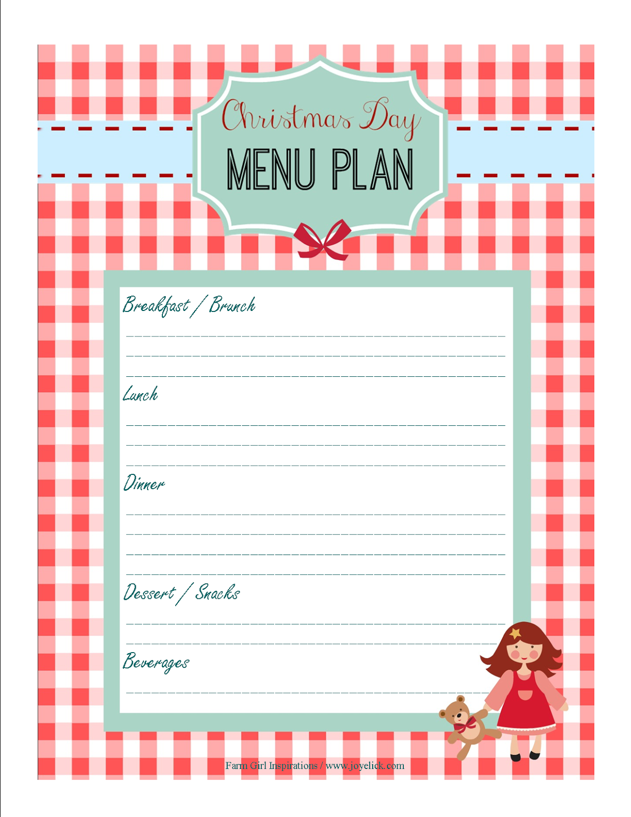Free Printable Christmas Planner Set Stay Organized This