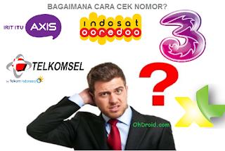 Cara Cek Nomor Indosat Im3, XL, Simpati, Axis dan 3
