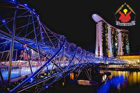 Jembatan Helix Bridge Singapore