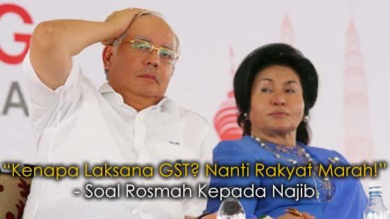 Rosmah Dedah Kenapa Najib Laksanakan GST