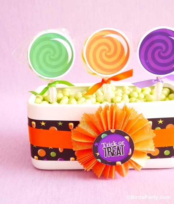 DIY Halloween Candy & Lollipop Party Centerpiece - BirdsParty.com