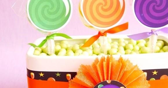 Diy Halloween Candy Amp Lollipop Party Centerpiece Party