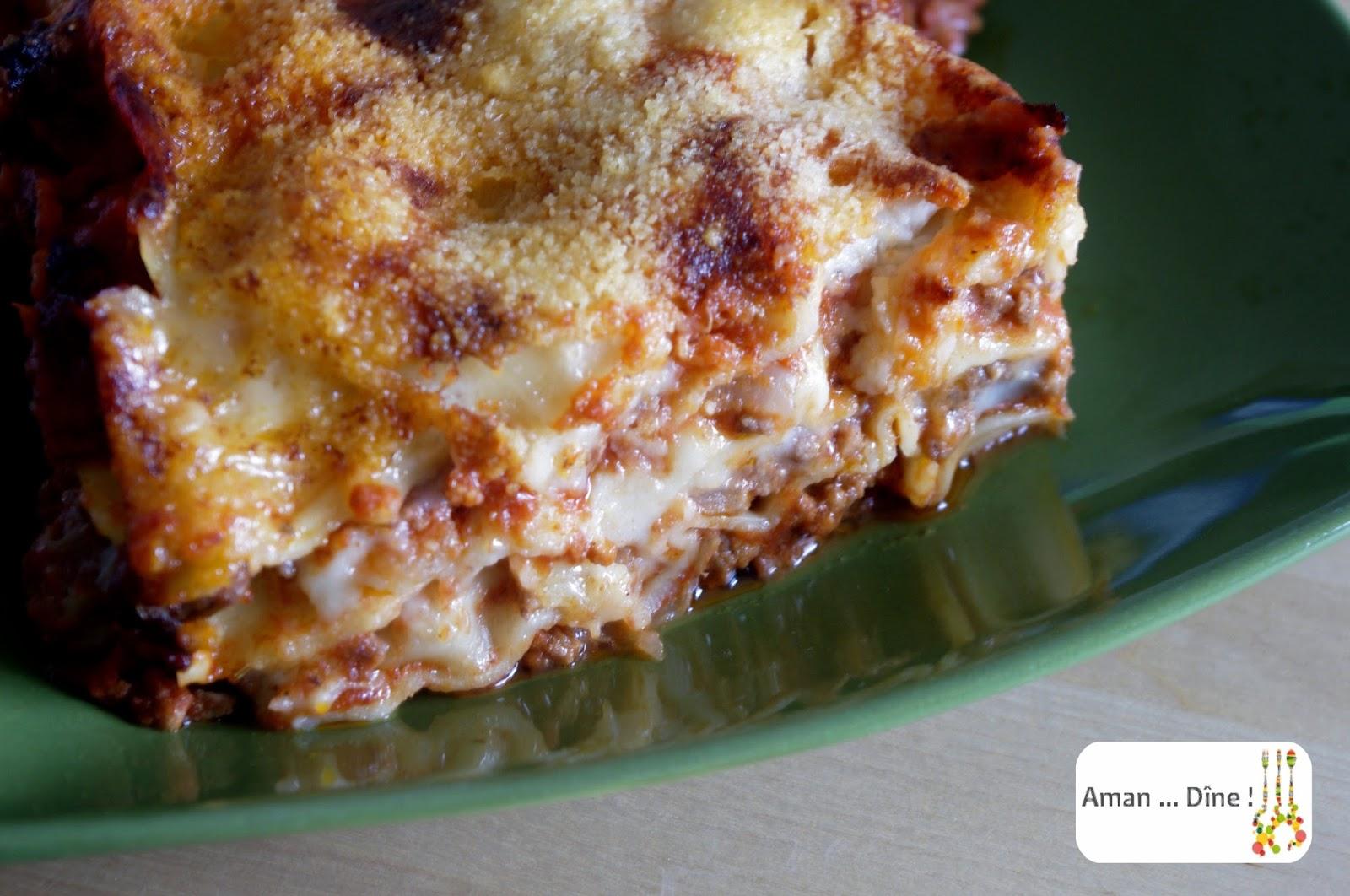 La traditionnelle lasagne