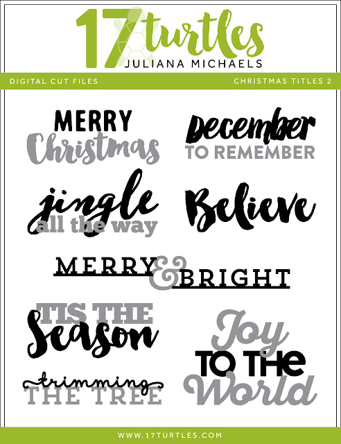 Christmas Titles 2 Free Digital Cut File by Juliana Michaels 17turtles.com