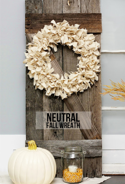 neutral fall wreath Scrap Wreath