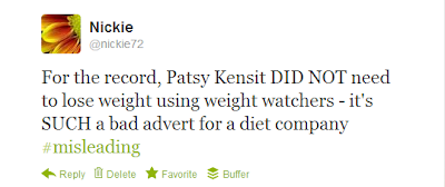 My obsession with Patsy Kensit and the Weight Watchers adverts...