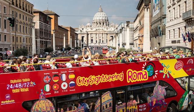 Informações sobre o passeio de ônibus turístico em Roma