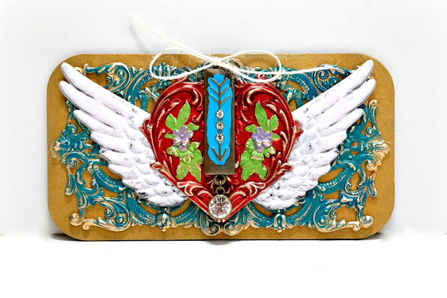 Winged Heart Mixed Media Board by Dana Tatar for Tando Creative