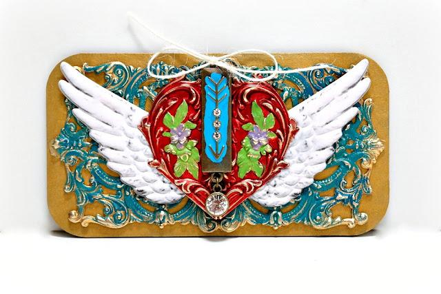 Winged Heart Mixed Media Board by Dana Tatar for Tando Creative