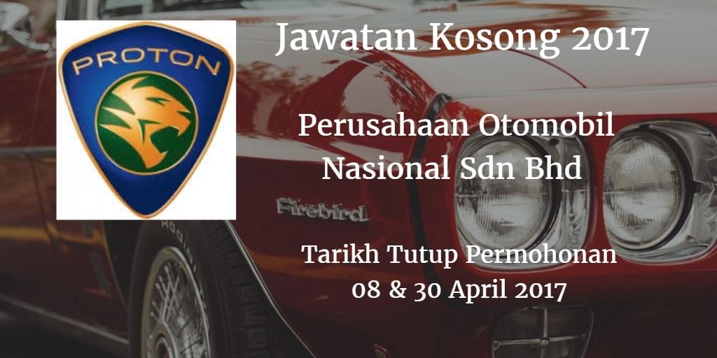 Jawatan Kosong PROTON 08 & 30 April 2017