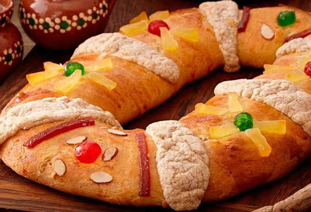 tradicional rosca de reyes