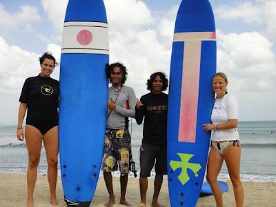 surfing lesson in cimaja jakarta  indonesia