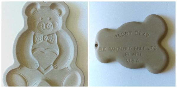 Pampered Chef Teddy Bear mold