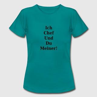 T-Shirt Design Ich Chef und du meiner Spruch