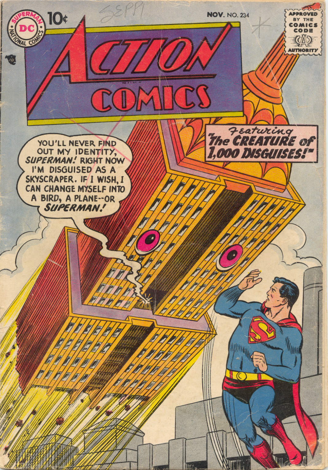 Read online Action Comics (1938) comic -  Issue #234 - 1