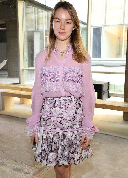 Princess Alexandra who is the little daughter of Princess Caroline visited Giambattista Valli Spring/Summer 2018 fashion show