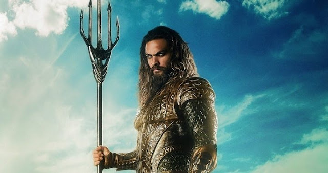 Jason Momoa como Aquaman en Justice League