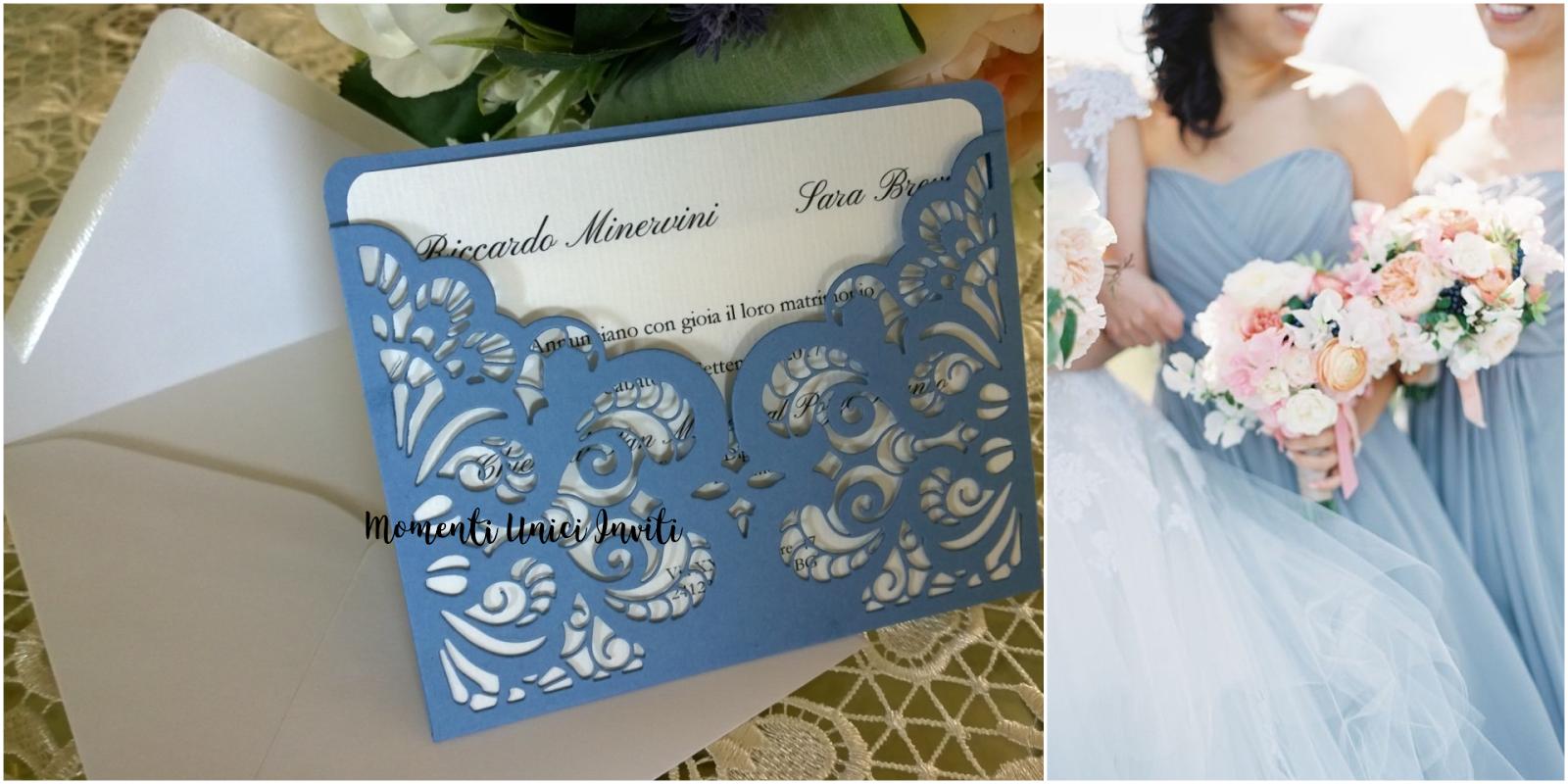 Partecipazioni Matrimonio Azzurro Polvere : Partecipazioni shabby chic country vintage archivi momenti