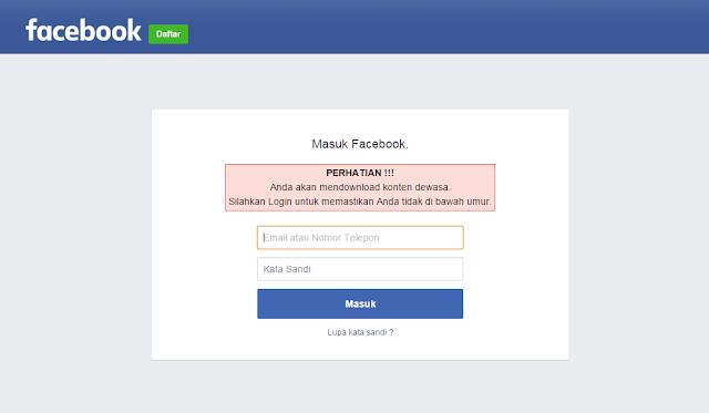 Halaman Facebook tiruan