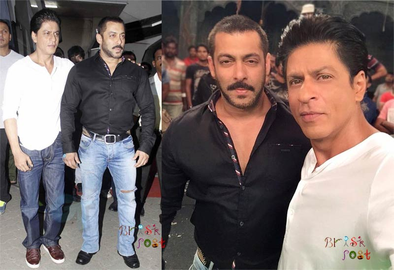 Shahrukh Salman Selfie moment out of Bigg Boss house at Mehboob studio