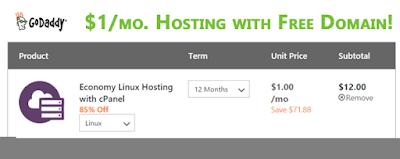 Godaddy Economy Linux Hosting Plan