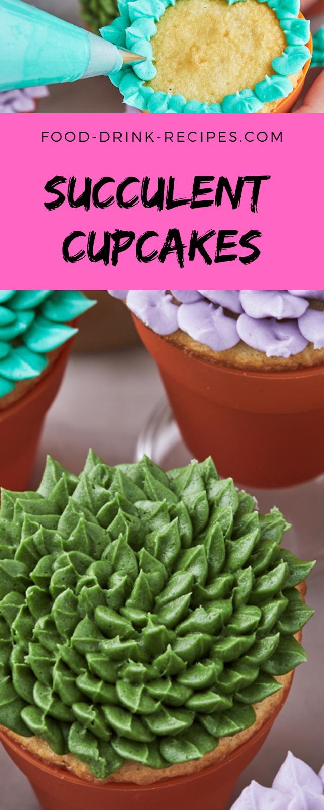 Succulent Cupcakes - food-drink-recipes.com