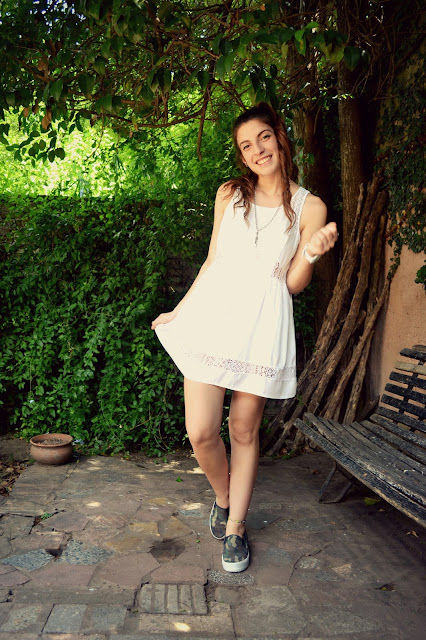 outfit, ootd, fashion blogger argentina, fashion blogger, white dress, camo