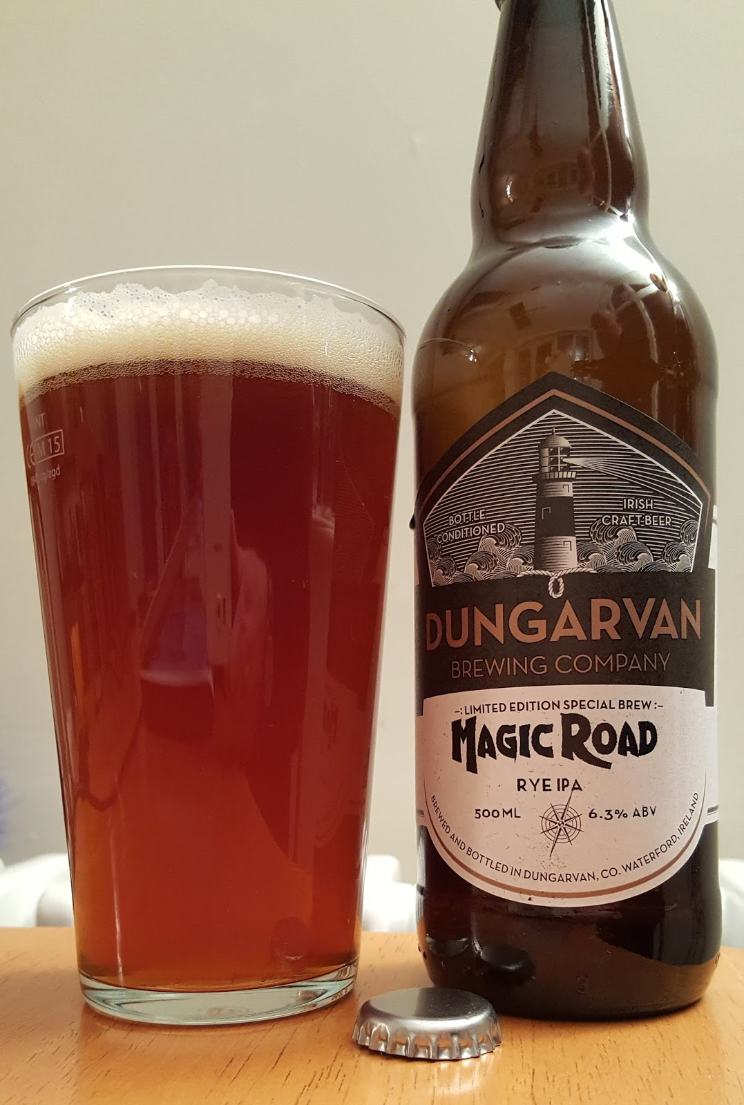 No Sooner Had I Put That Away Than Magic Road Rye Ipa Had Appeared It Poured A Bit Flat But Did Manage A Head While Also Pumping Out A Heavy Grand