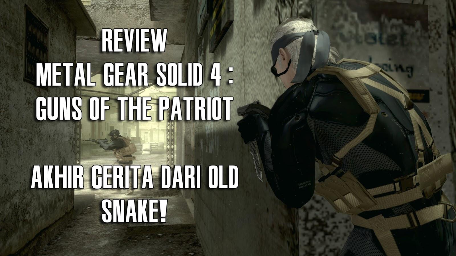 Review Metal Gear Solid 4 : Guns of the Patriots : Akhir