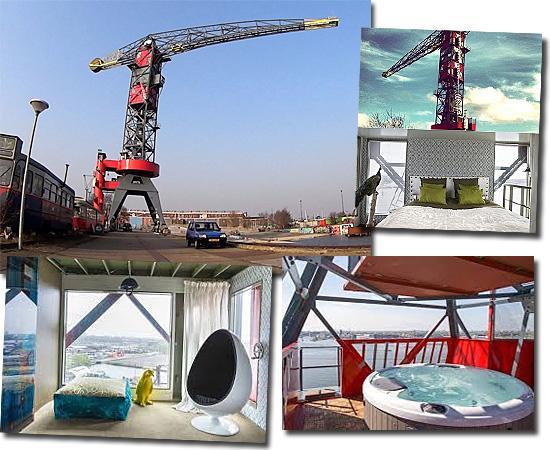 Hotéis mais exóticos do mundo - Faralda NDSM Crane Hotel