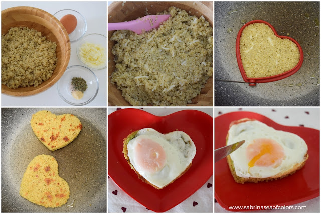Tostadas de quinoa con aguacate y huevo frito