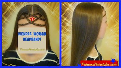 Wonder woman hairstyle tutorial, so unique