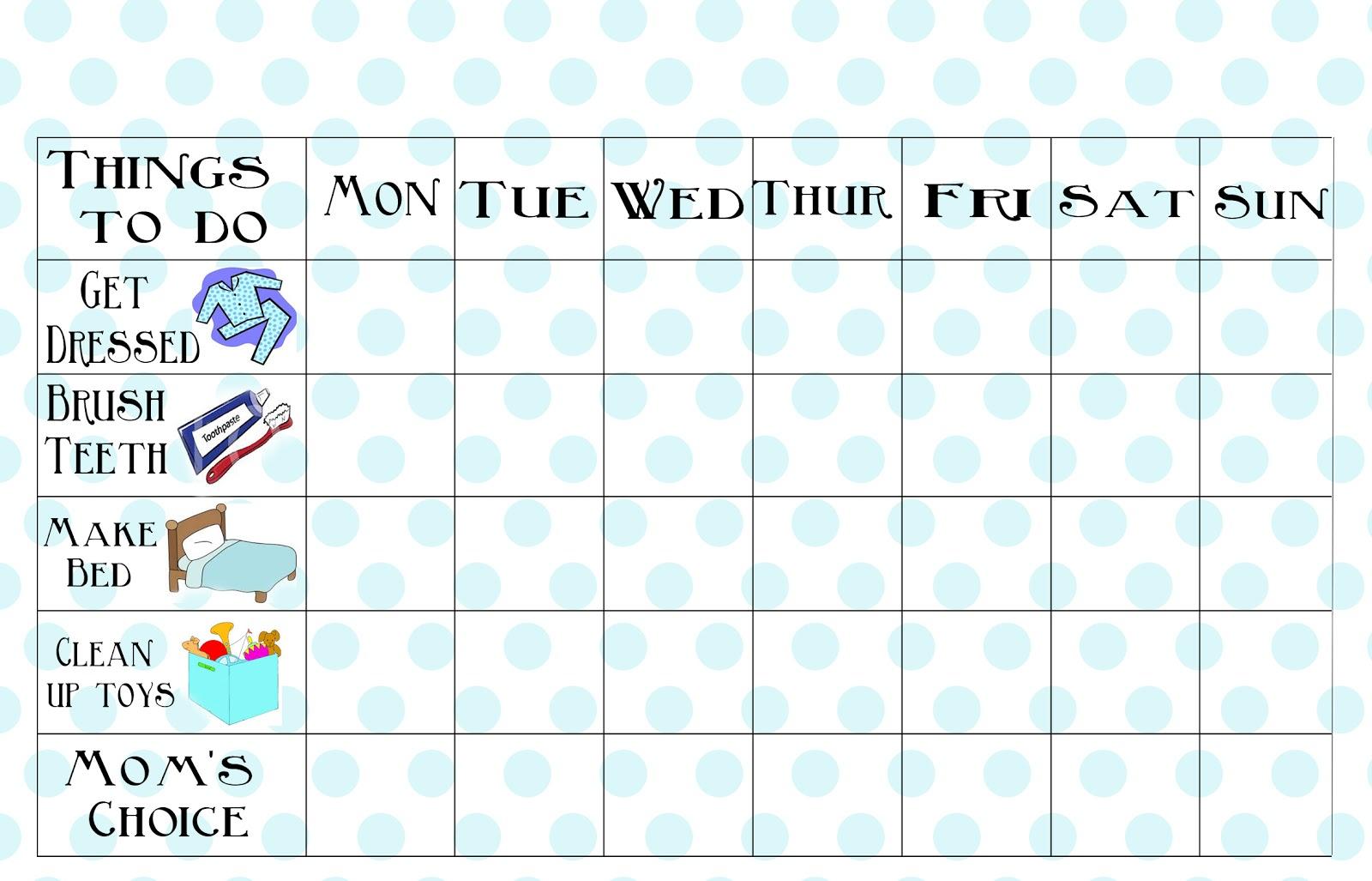 photo regarding Printable Kids Chore Chart named Totally free Printable Chore Chart